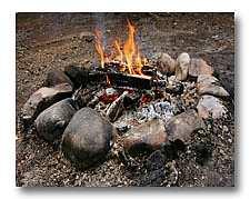 cook on coals